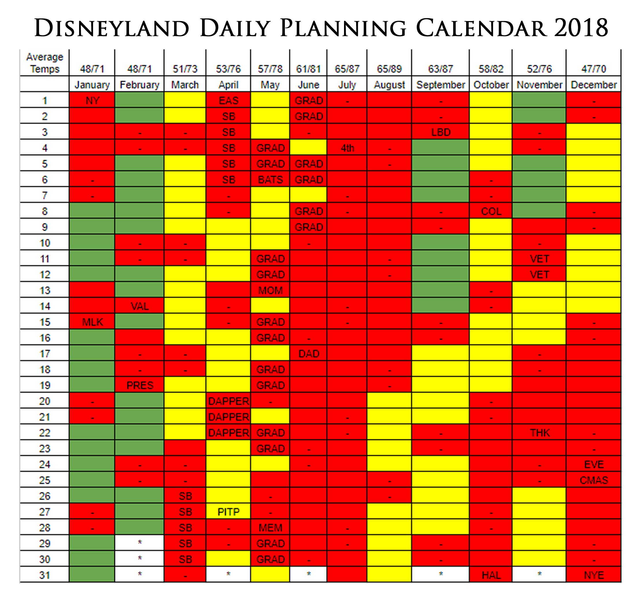 Step 1: Pick a Date | Disneyland Daily