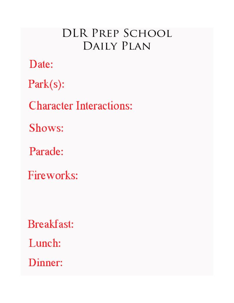 Step 3: Make a Daily Plan | Disneyland Daily