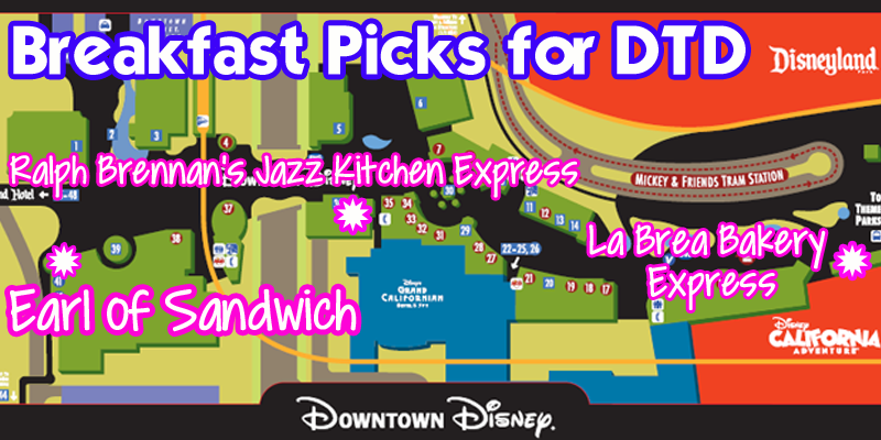 DTD Breakfast Map