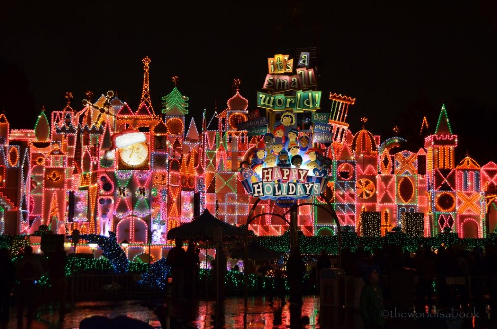 disneyland its a small world christmas at night