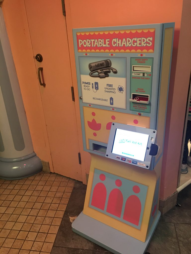 Fuel Rod Chargers at Disneyland and Walt Disney World