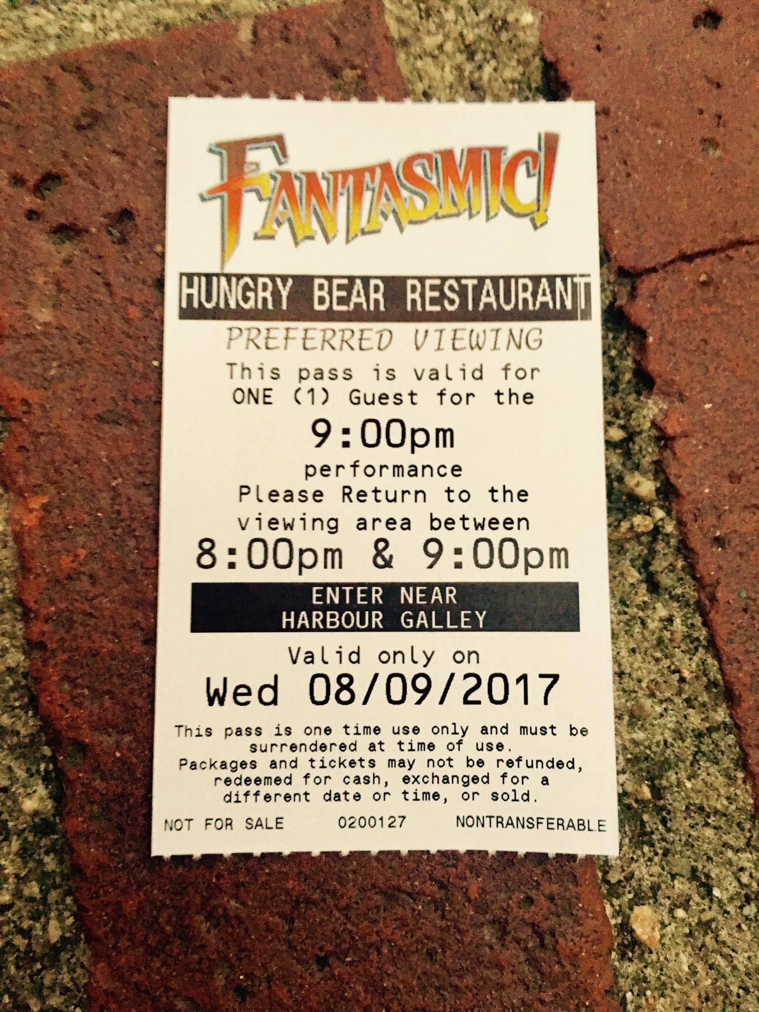 hungry bear fantasmic! on-the-go review | disneyland daily